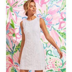 LILLY PULITZER Melani White Eyelet Shift Dress 12